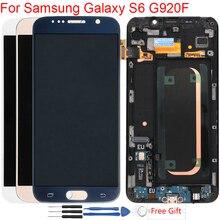Super Amoled S6 ЖК-дисплей Экран для samsung Galaxy S6 Дисплей с рамкой ЖК-дисплей Экран сборки для samsung S6 G920 G920A G920F ЖК-дисплей