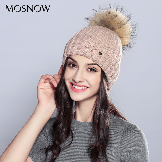 Girls Knitted Pompom Hat Female Knitted Warm Wear Hat Students Leisure  Pompom Wool Knitted Cap Adjustable Hat 11 Colors B-9363 e29edbe9f15