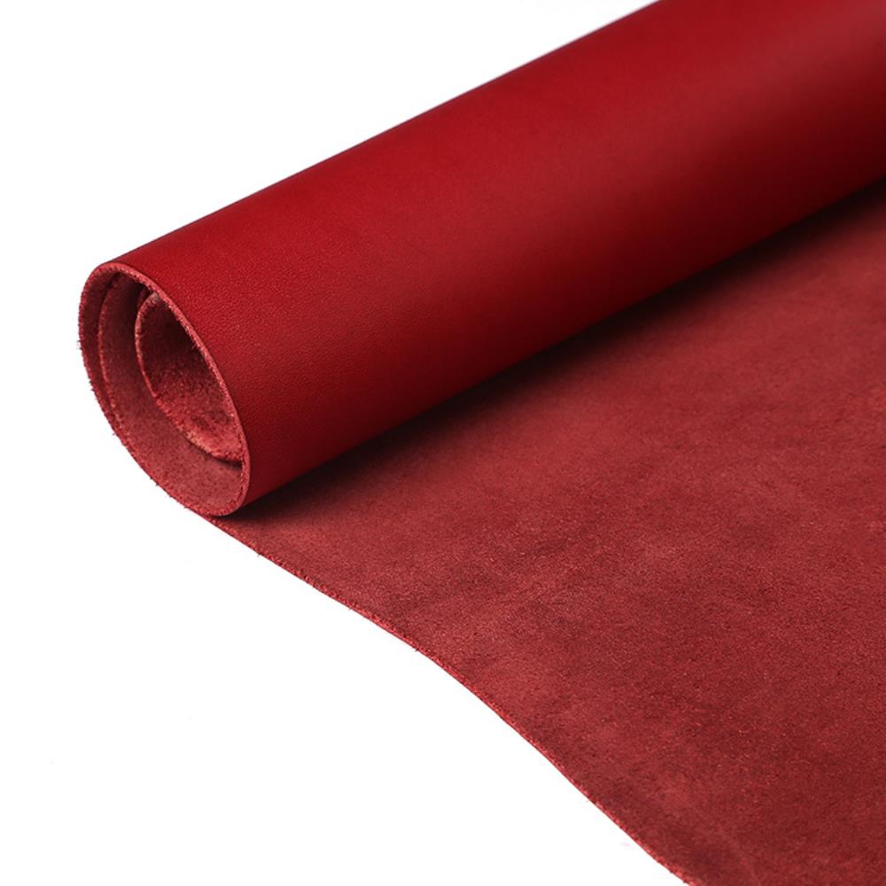 Passion Junetree LEATHER HIDES COW SKINS Thick Genuine Leather About 2mm Cowhide Red 8 7 14