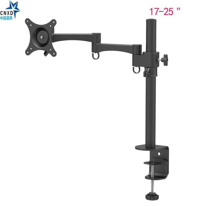 """Full Motion Single LCD Screen Bracket Monitor Holder Monitor TV Mount Fully Adjustable Arm Stand Screen to 17-25"""""""