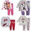 Novo 2016 set roupas menina, Inverno terno, Bebê crianças menina pijama, Minnie, Roupa interior térmica de espessura, Crianças pijamas set