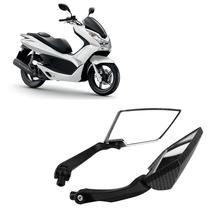 carbon fibre color universal 10mm 8mm motocross ATV Off-road dirt pit bike motorbike side mirror moto rearview motorcycle