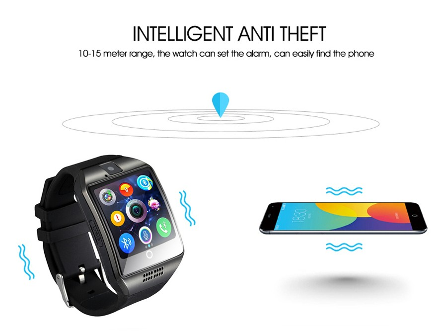 Bluetooth Smart Watch Q18 With Camera Facebook Whatsapp Twitter 037