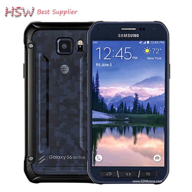 Оригинальный Samsung Galaxy S6 Active/G890a Окта основные Android 5.0 Мобильный Телефон 3 ГБ + 32 ГБ 16MP Камера 5.1 дюймов Разблокирован Телефон WiFi