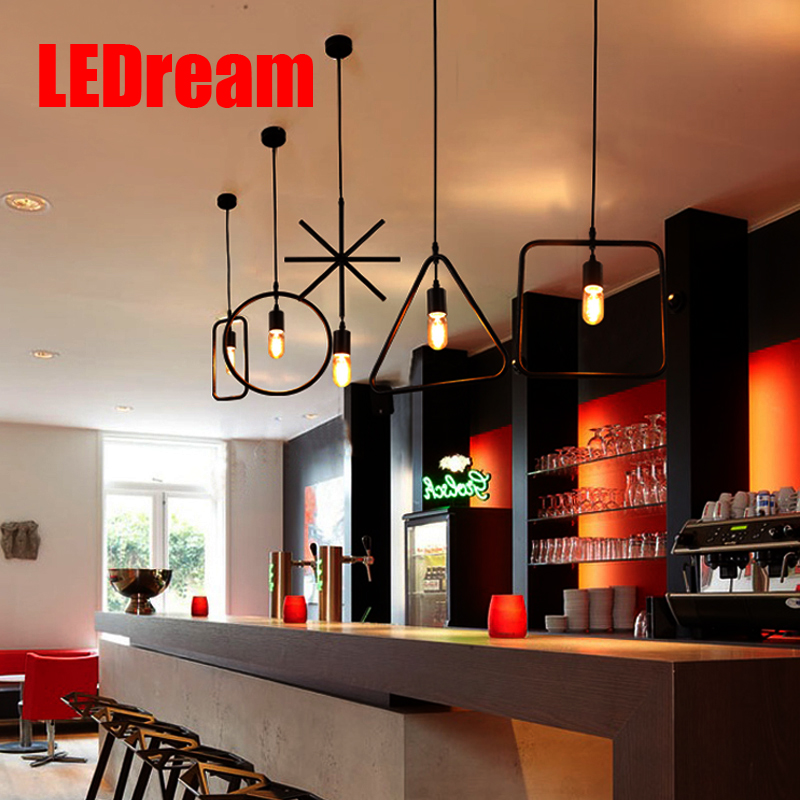 LEDream Creative Loft Vintage Pendant Lamp Iron Retro Northern Europe American Industrial Style E27 Edison Pendant Lights northern europe loft vintage pendant lights lamp iron black e27 americal industrial vintage loft pendant lamp fixtures