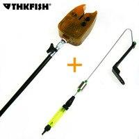 1 Satz Elektronische Fischerei Bissanzeiger + Stick und LED-Licht Carp Grobe bissanzeiger Elektronische Bissanzeiger Fischfinder ton Alarm