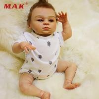 18 Inches Lifelike Silicone Reborn Baby Doll Girls Princess Newborn Gift Brinquedos Birthday present Collection