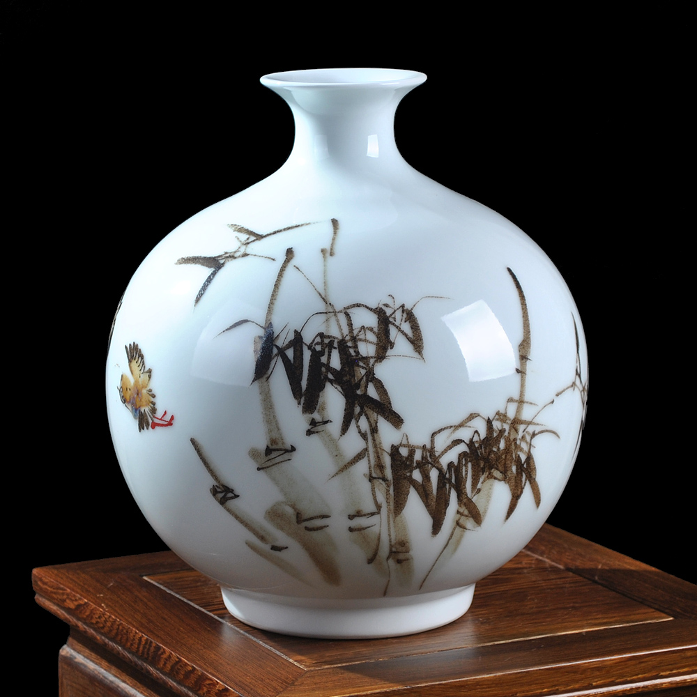 cermica peng xiaoqing qingfeng bamb florero pintado a mano moderno minimalista decoracin del casero de