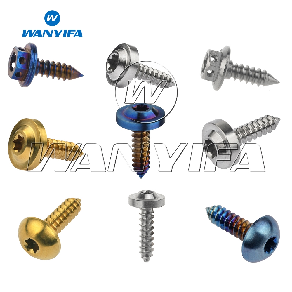 Wanyifa M4x15mm M5x15 17 20mm Self Tapping Flange Head Titanium Bolt Screw for Bicycle Brake Bike Part in Bicycle Brake from Sports Entertainment