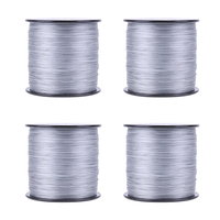 500M PE Weaving Strong 8 Strands Multifilament Wide AngleTechnology Sea Braided Fishing Line Gray 2