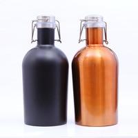 12pcs Colorful 64OZ Stainless Steel Homebrew Beer Growler 1 9L Secure Swing Top Lid Craft Beer