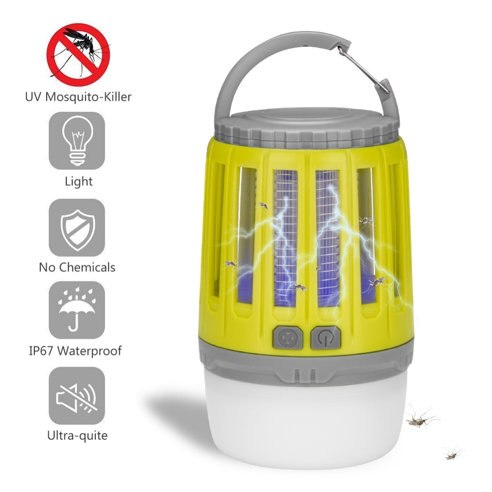 Multifunctional Mute LED Light USB Charging Mosquito Killer Lamp Fly Bug Insect Trap Repeller For Home Garden Camping Outdoor