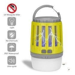 Wielofunkcyjny wyciszenie światła LED USB ładowania lampa przeciw komarom pułapka na muchy na owady odstraszacz dla domu ogród Camping odkryty w Lampy na komary od Lampy i oświetlenie na
