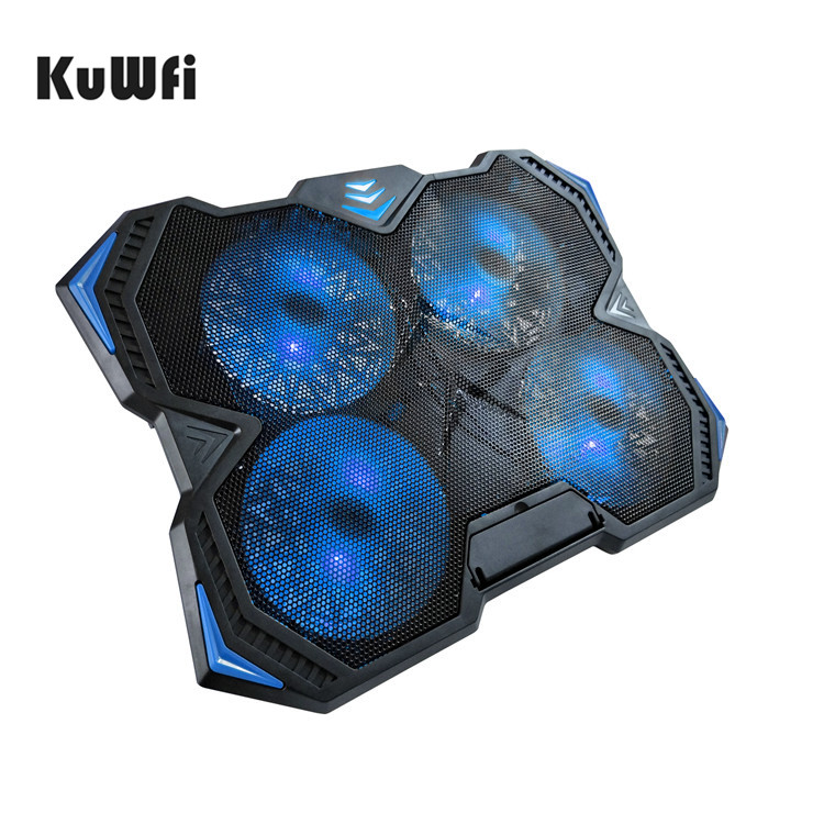 KuWfi Slim Laptop Cooling Pads Fan speed adjustable Cooling Pad For Laptop Below 17 Inch With 2 USB Ports&4 Fans KuWfi Slim Laptop Cooling Pads Fan speed adjustable Cooling Pad For Laptop Below 17 Inch With 2 USB Ports&4 Fans