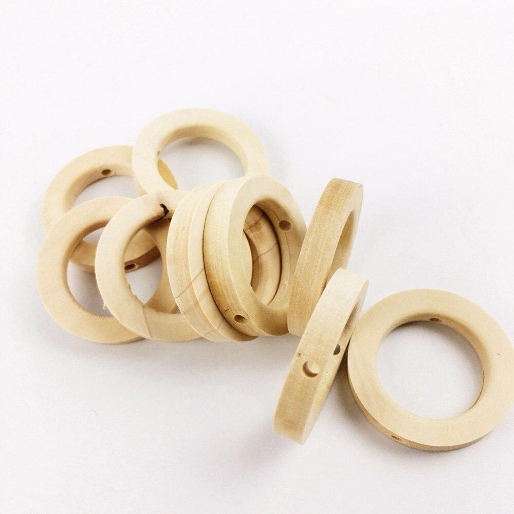 Aggressiv 100 Pc 32mm Holz Beißring Baby Krippe Spielzeug Diy Handwerk Für Baby Pflege Halskette Baby Bio-beißring Holz Ringe Kleine Holz Perlen