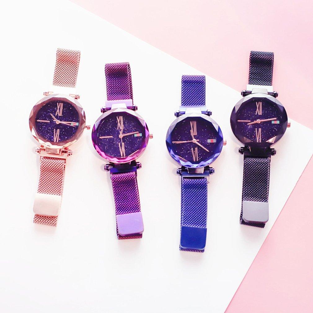 Fashion Luxury Brand Watch Women Ladies Watch Waterproof Flash Star Montre Femme Round Dial Gifts Wrist Watches For Women Clock in Women 39 s Watches from Watches