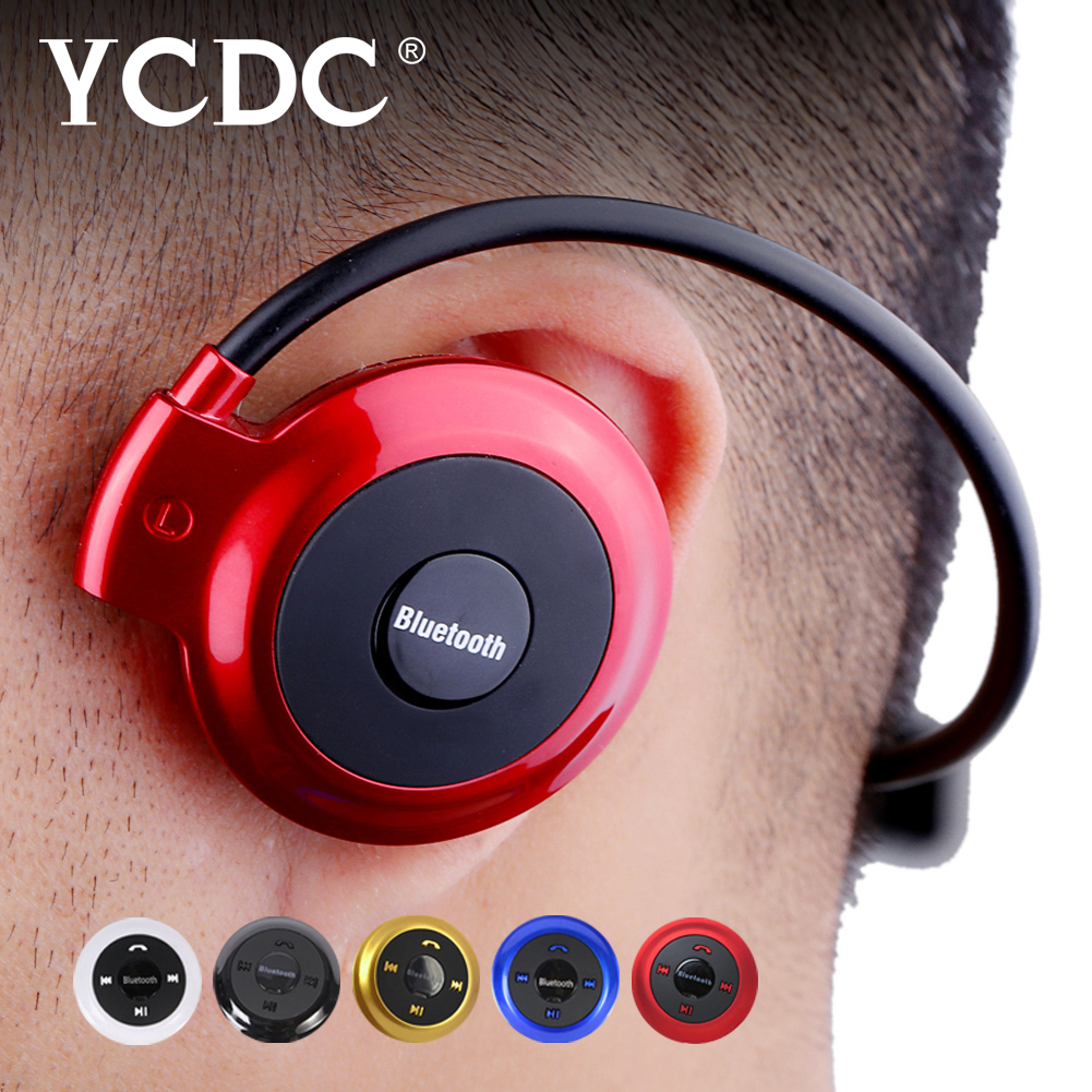 YCDC Mini-503 Wireless Sports Neckband Folded Bluetooth Headset Headphone TF Music Play for mobile phone Cycling Stereo Play