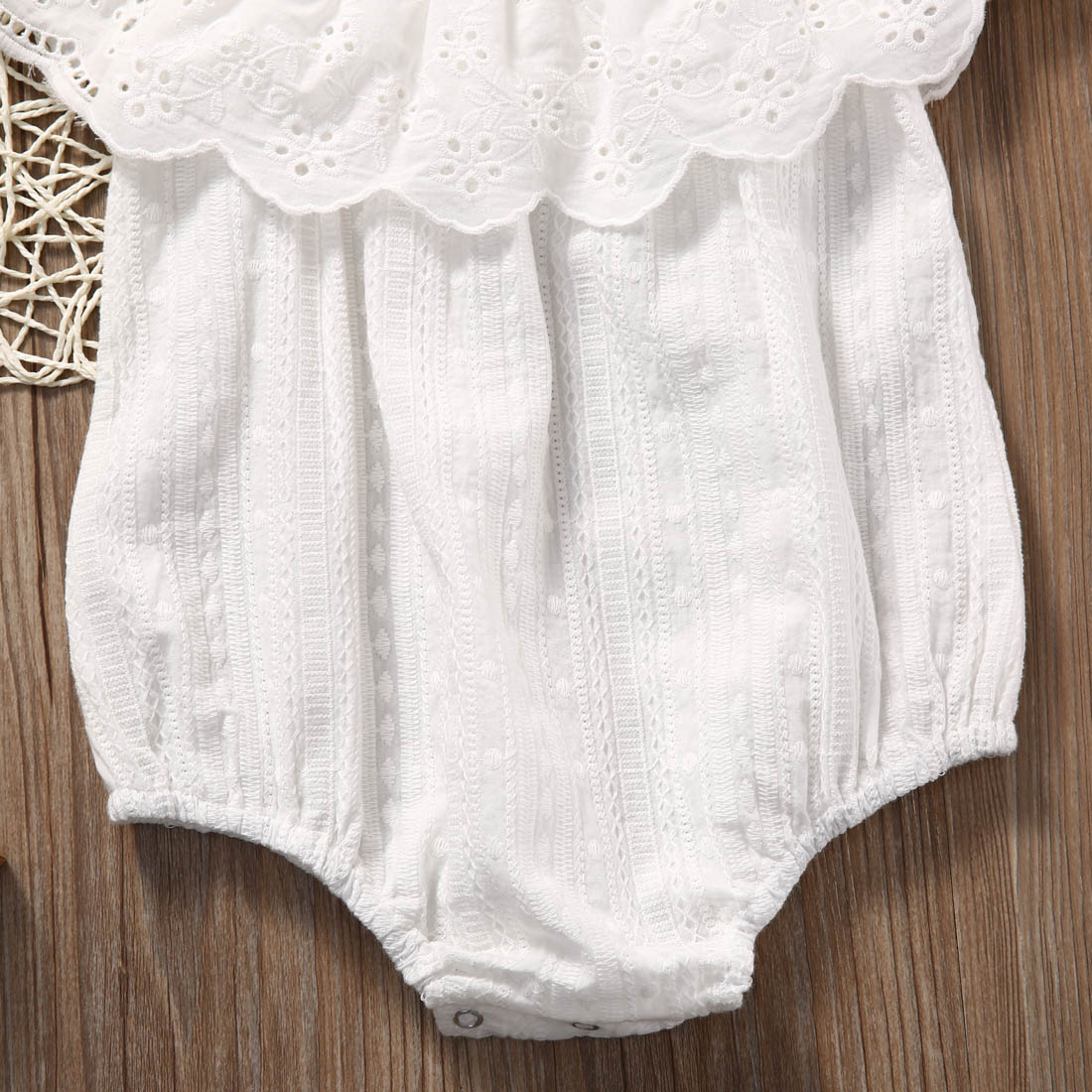 cc456696386 Soft Cotton Newborn Baby Girl Romper Clothes White Lace Playsuit Jumpsuit  Outfit Summer Bebes Cute Sunsuit 0 24M-in Bodysuits from Mother   Kids on  ...