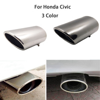For Honda Civic Jeep Car Exhaust Muffler Tip Stainless Steel Pipe Chrome Trim Modified Car Rear Tail Throat Liner Car Styling