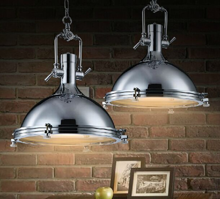 100 240v Large Heavy Lustres Home Vintage Industrial Metal Lamp Loft  Vintage Black Chrome Pendant Light Big Retro Kitchen Lamp In Pendant Lights  From Lights ...