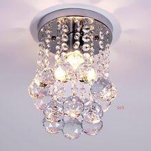 Хрустальная люстра Освещение Блеск Топ Кристалл K9 Рама Из Нержавеющей Стали H23cm D15cm Luminaria Cristal Lustre Лампе