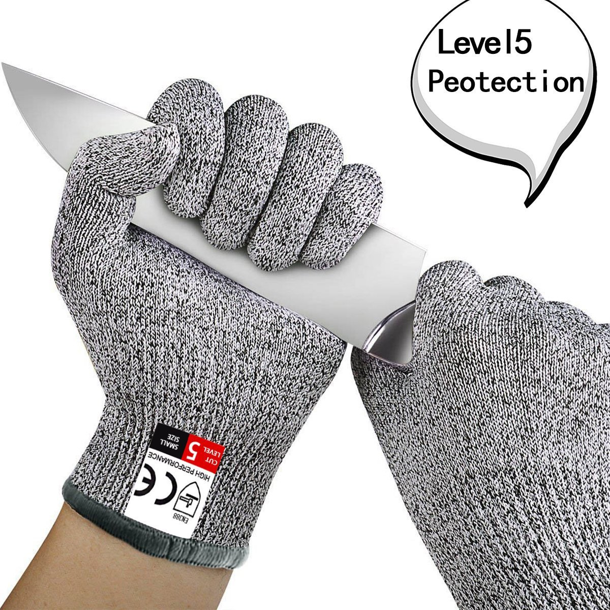 Level 5 Cut-resistant Gloves High-strength Polyethylene HPPE Knit Kitchen Cut-proof Gloves Woodworking Slaughter Dipped Gloves