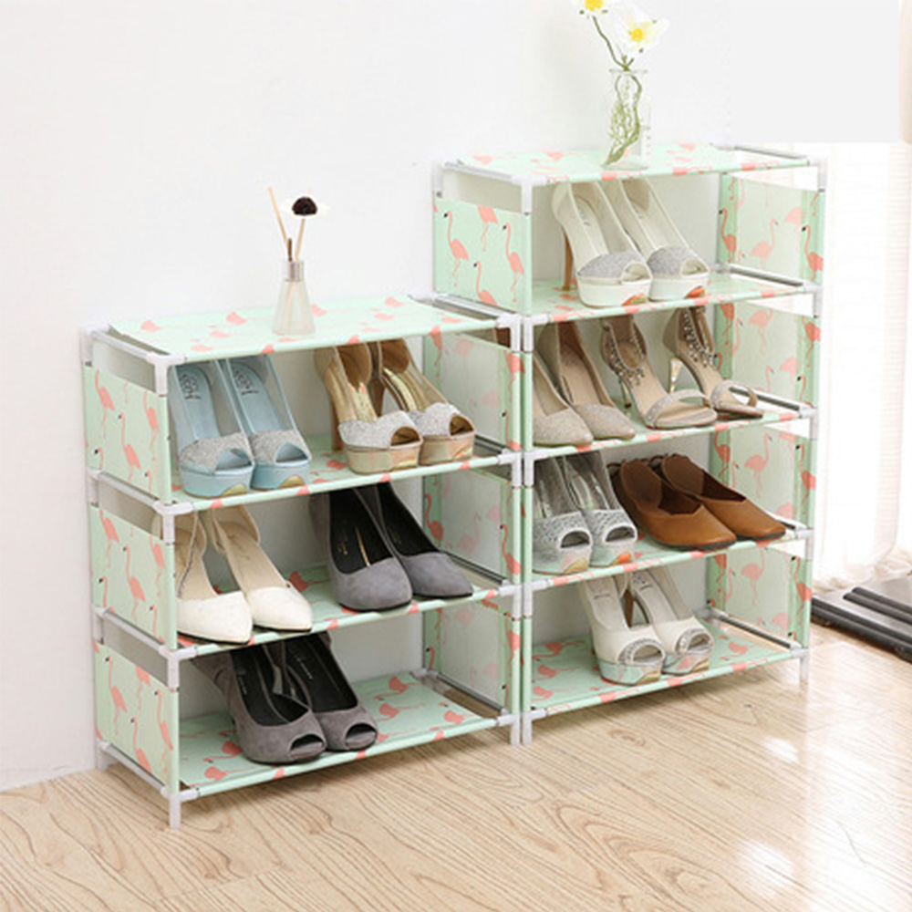 Multifunction Metal Shoe Racks Three & Four Layers Shoes Shelf Organizer Home Space Saving Shelves For Shoes Easy to Install Полка