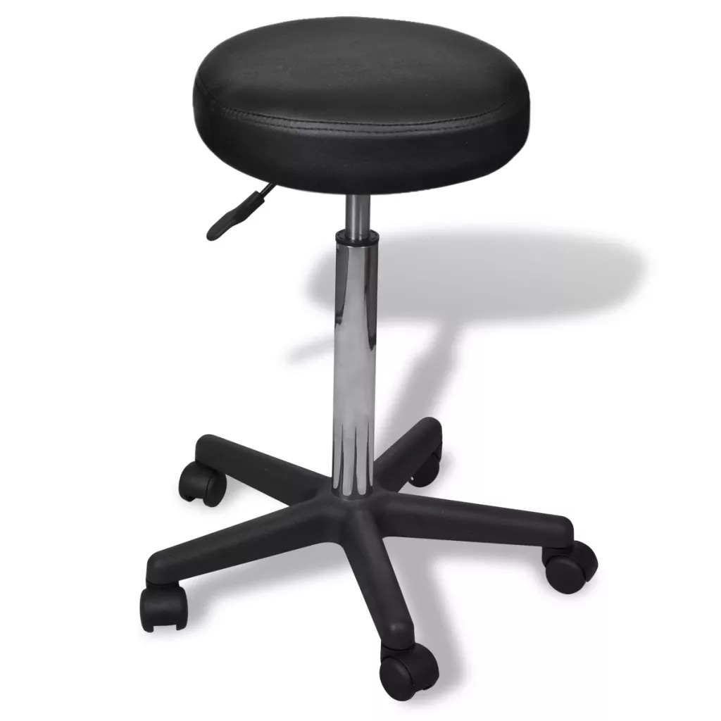 VidaXL Office Stool Beauty Stool Barber Shop Chair Hair Salon Rotating Lift Stool Nail Makeup Salon Pulley Workbench 4 Colors