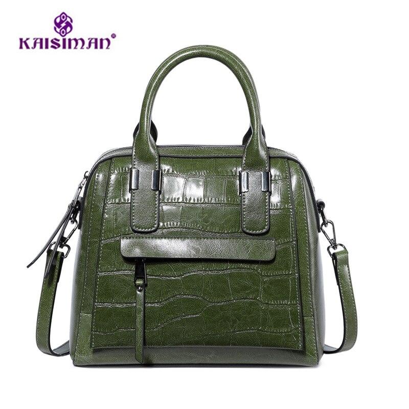 2018 Fashion Women Tote Bags Genuine Leather Crocodile Pattern Shoulder Messenger Handbag Luxury Handbag Women Bags Designer Sac стоимость
