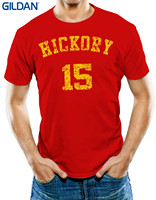 GILDAN Good Quality Brand Cotton Shirt Summer Style Cool Shirts Men S Hickory 15 Hoosiers T