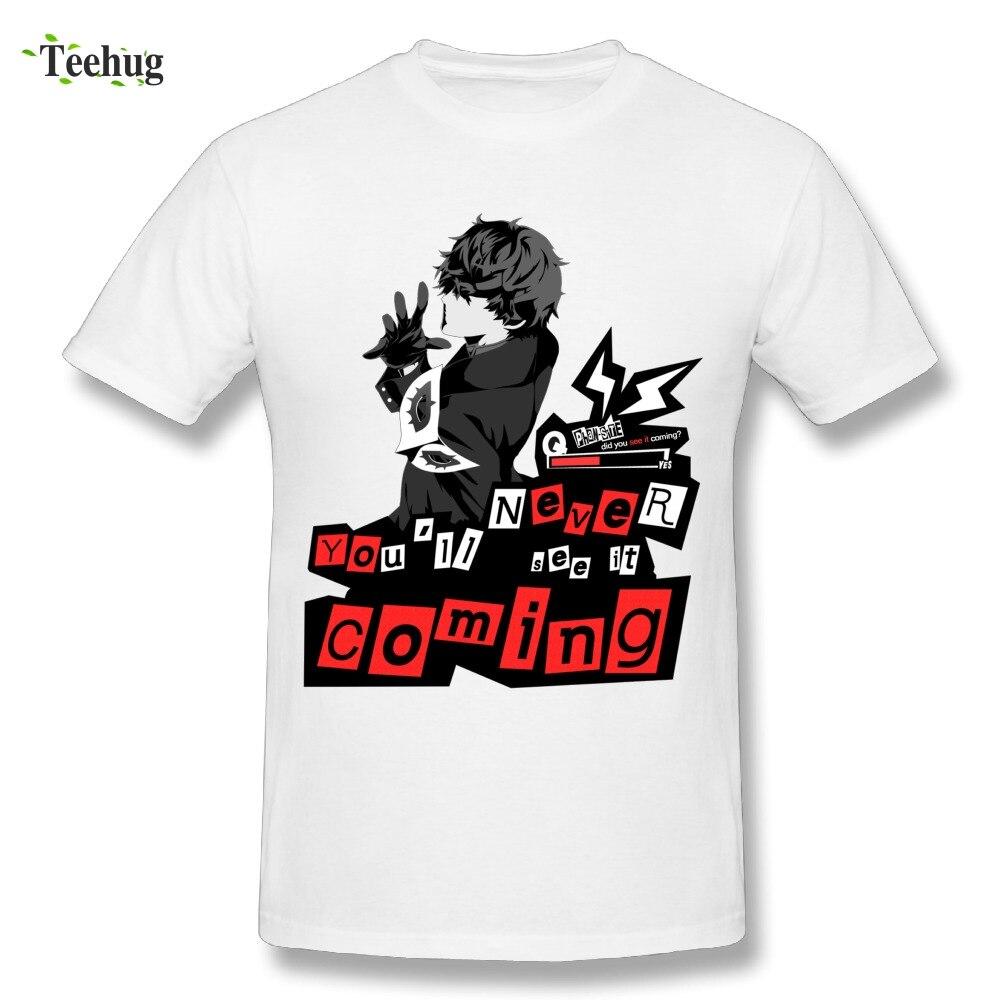Jeu de mode Persona 5 Joker T-shirt D'été De Mode Jamais vu Venir Grande Conception T-Shirt D'été Homme chemisette
