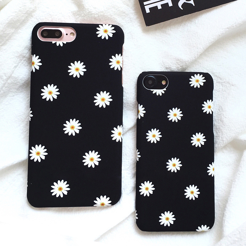 Iphone 7 Case | Ultra Thin Frosted Cute Daisy Flower Case For Iphone 7 Case Lovely Cartoon Floral Back Cover Hard Phone Cases For Iphone7 7 Plus