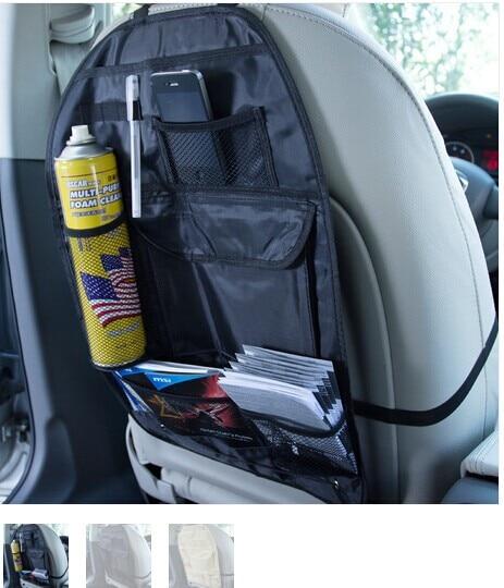 Organizador de accesorios para automóvil Asiento trasero de la silla Car multi Pocket Storage Bolsa de almacenamiento automático Asiento de automóvil Funda protectora a prueba de polvo