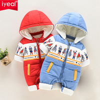 IYEAL Infant Romper Baby Boys Girls Jumpsuit New born Bebe Clothing Hooded Toddler Baby Clothes Winter Warm Cartoon Baby Costume