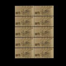 Billet d'or lettonie 10 pièces/lot | Feuille d'or 10 Lat, billets de monnaie Collection de billets de monnaie