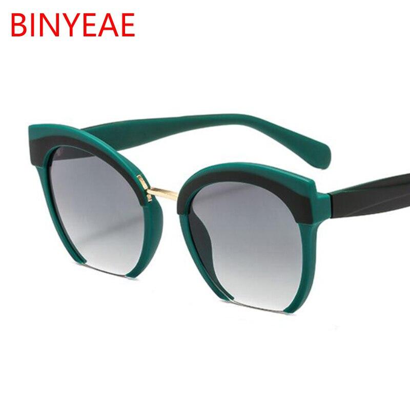 Vintage Green Cat Eye Sunglasses Women Fashion 2019 Luxury