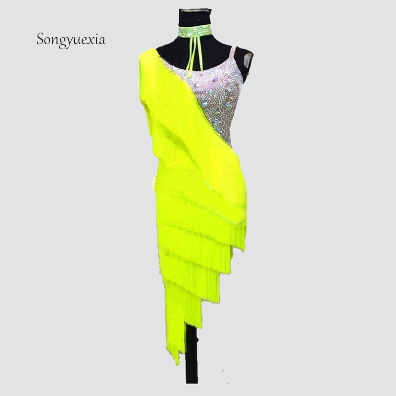 2017 Songyuexia High grade Latin dance competition dress Latin dance costume can be customized