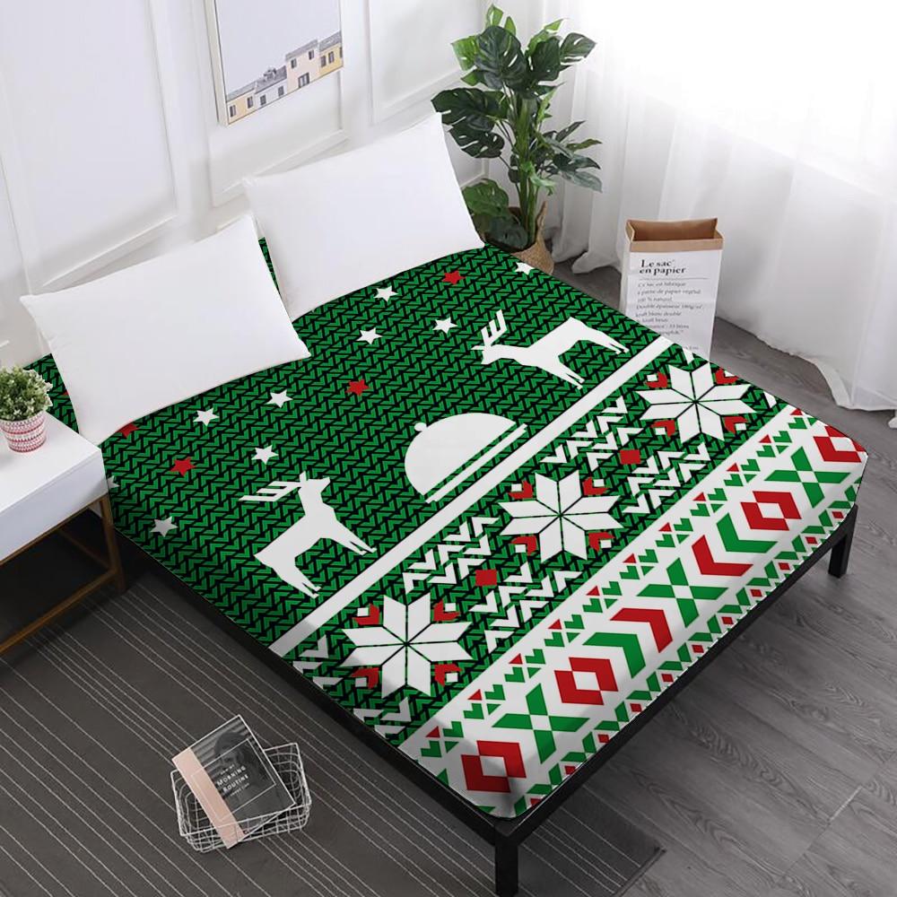 fitted Crib Sheet Green stripe Print