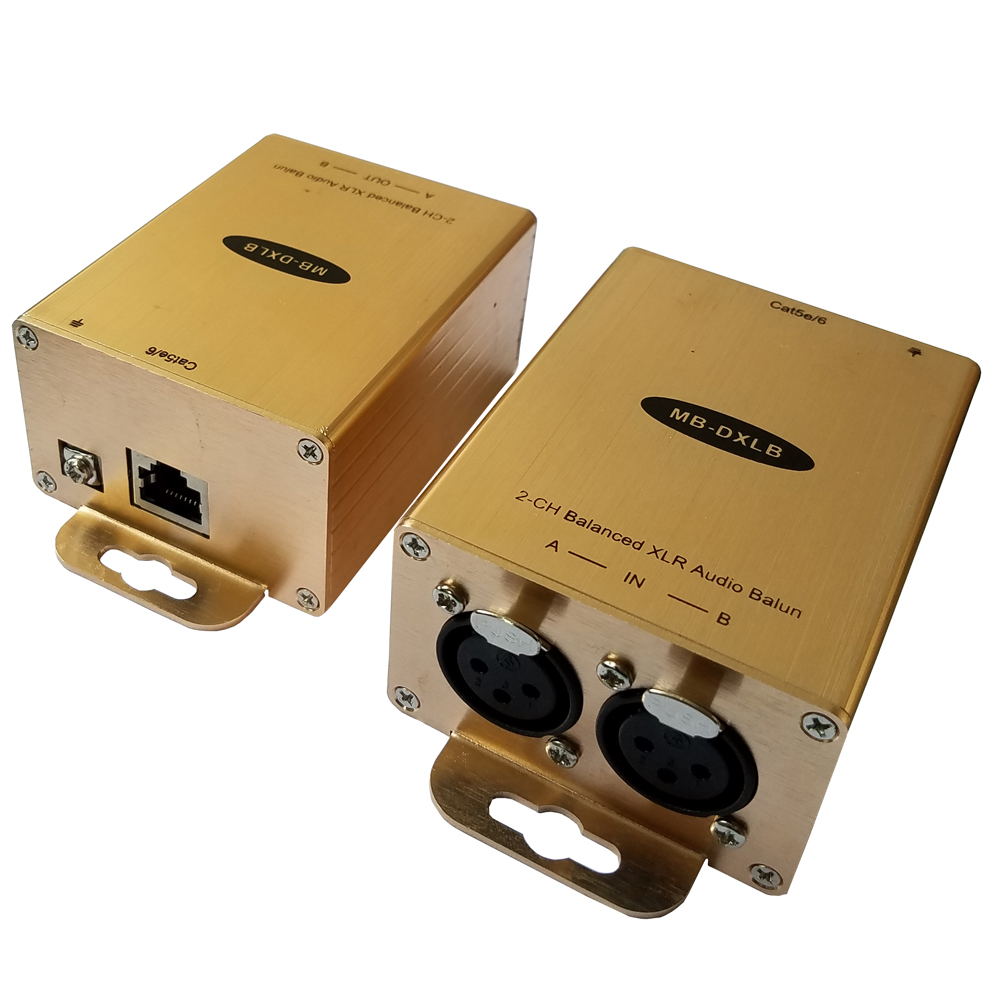 Cat5 Balanced Audio Extender XLR Audio Balun AES Analog Audio Over Cat5-in Amplifier from Consumer Electronics    2