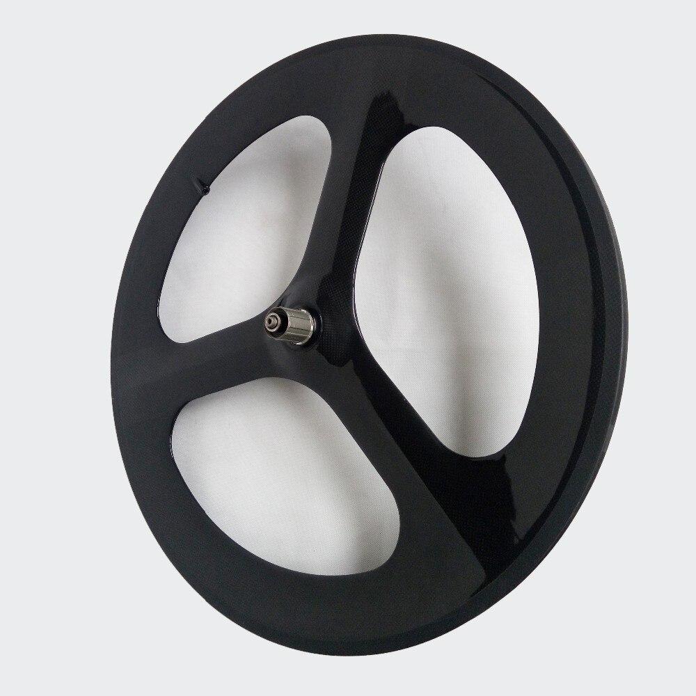 700C 20.5/23mm largeur Tri-rayons vélos de route roues en carbone pneu/tubulaire pour route/piste/temps/essai vélo 3-rayons jeu de roues