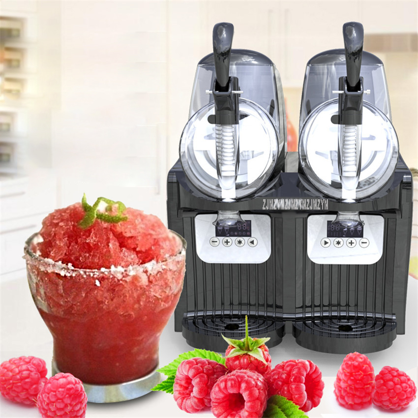 2 Tank Electric Automatic Slush Make Machine Soft Ice Slush Sand Ice Tea Juice Making Machine Commercial Use TKX-2.5L*2 цена и фото
