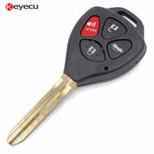 Keyecu 2PCS Compatible Remote Key Fob for Toyota Camry 2007 2008 2009 2010 4 Button 314.3MHZ with 4D67 Chip,FCC ID HYQ12BBY