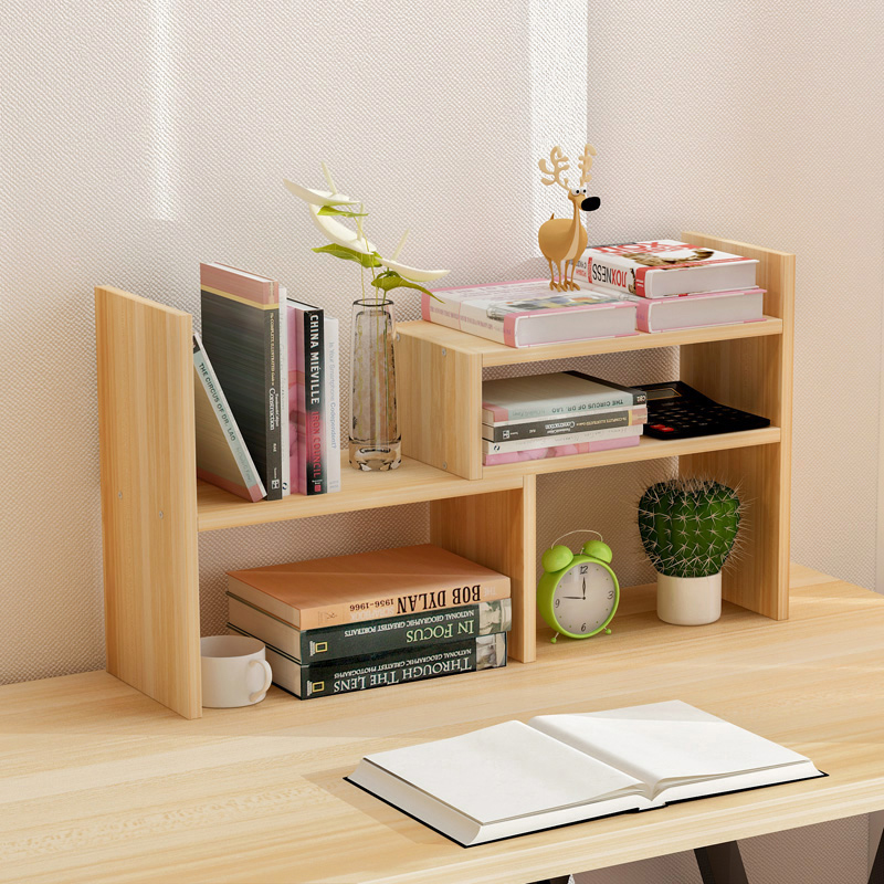 Creative computer desk bookshelf simple shelf small office storage frame telescopic desktop bookcase ...