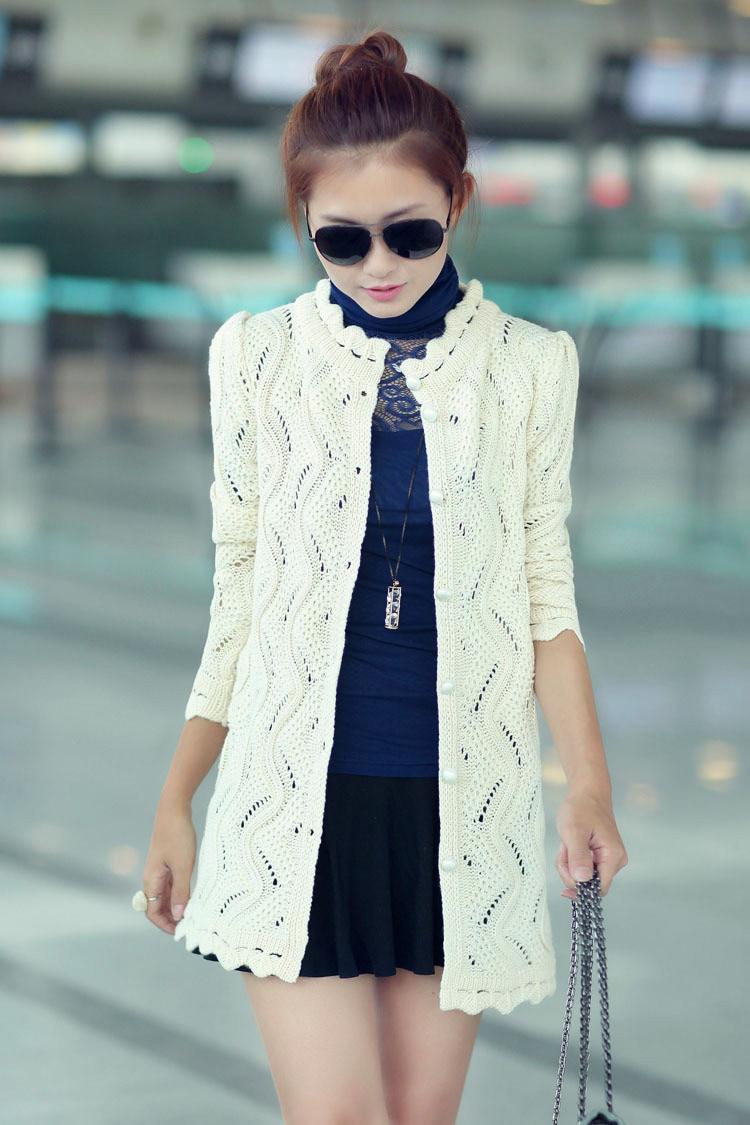 womens sweater Spring cardigan 2016 Long sleeve knitted cardigan sweater women cardigan coat Plus size free shipping