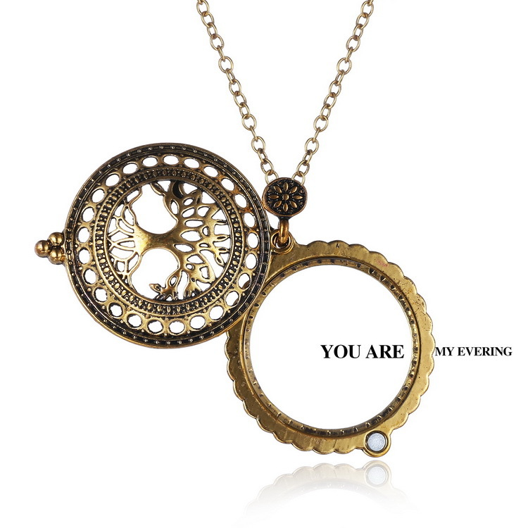 The Tree Of Life Magnifier Glass Pendant Necklaces Long Sweater Chain Necklaces Vintage Closed And Open Necklaces Black Friday