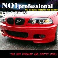 OUMIAO Автомобиль Стайлинг для BMW E46 фары 1998 2002 для E46 светодио дный угол глаза drl H7 hid Би ксеноновые линзы ближнего света