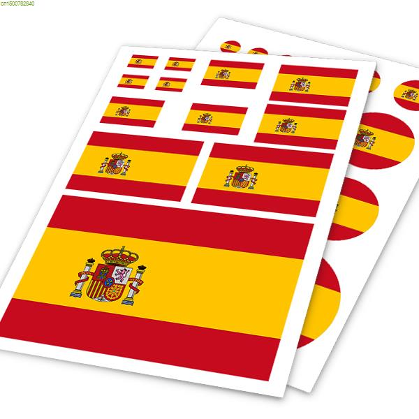 Spain flag design vinyl sticker on car furniture laptop universal car stickers and