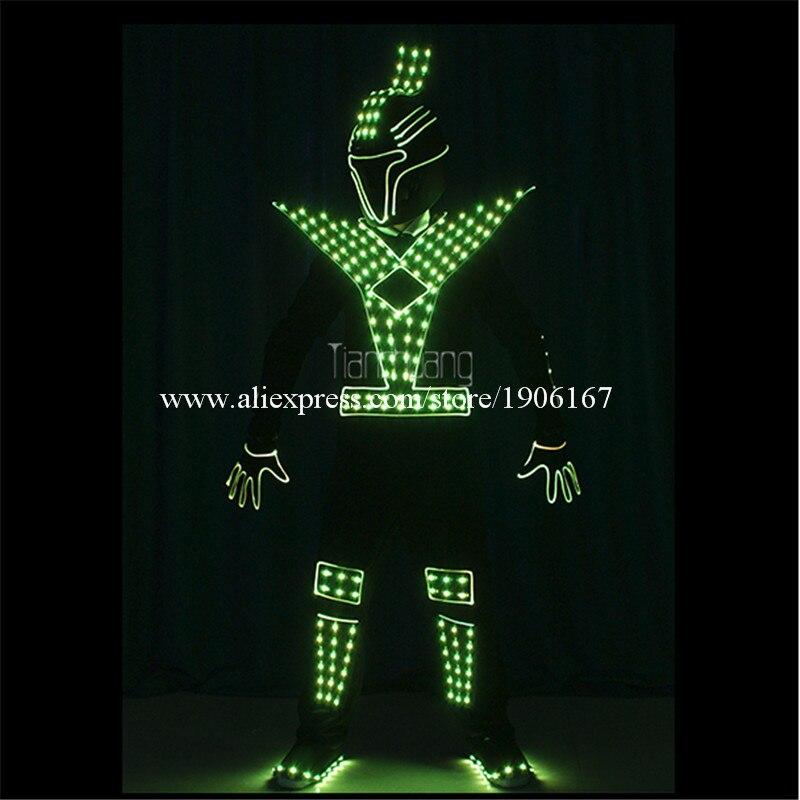 Programmable Men led robot costumes dance costumes robot suit full color led light dj clothes luminous stage wears disco5