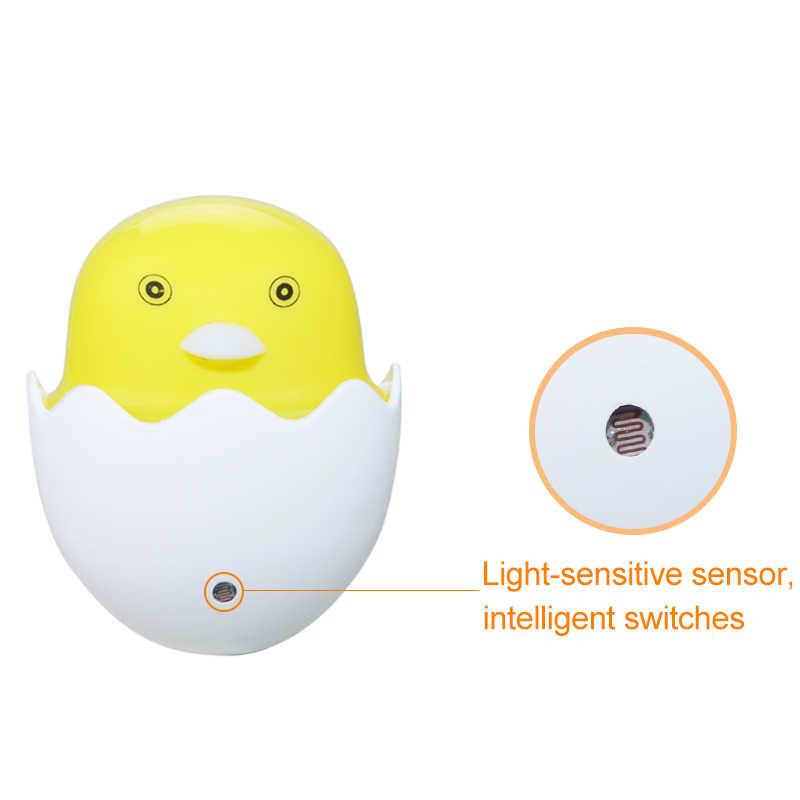 Новые ночник умный Сенсор освещение ночники AC220V 110 В ЕС США Plug маленькая Желтая утка ночник для детей детские Спальня