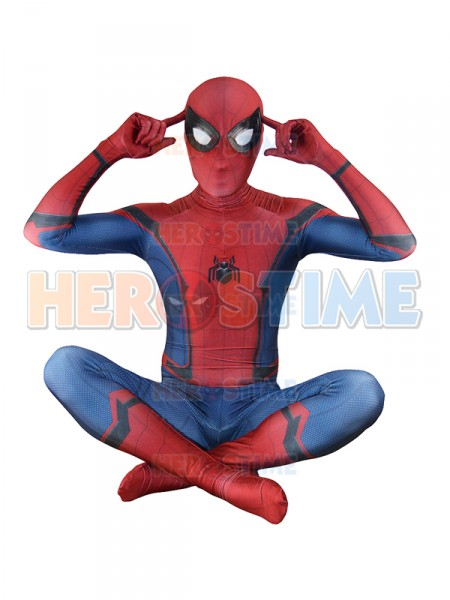 Spider Man Homecoming Costume Movie TRAILER VERSION Spiderman Zentai Suit Hot Sale
